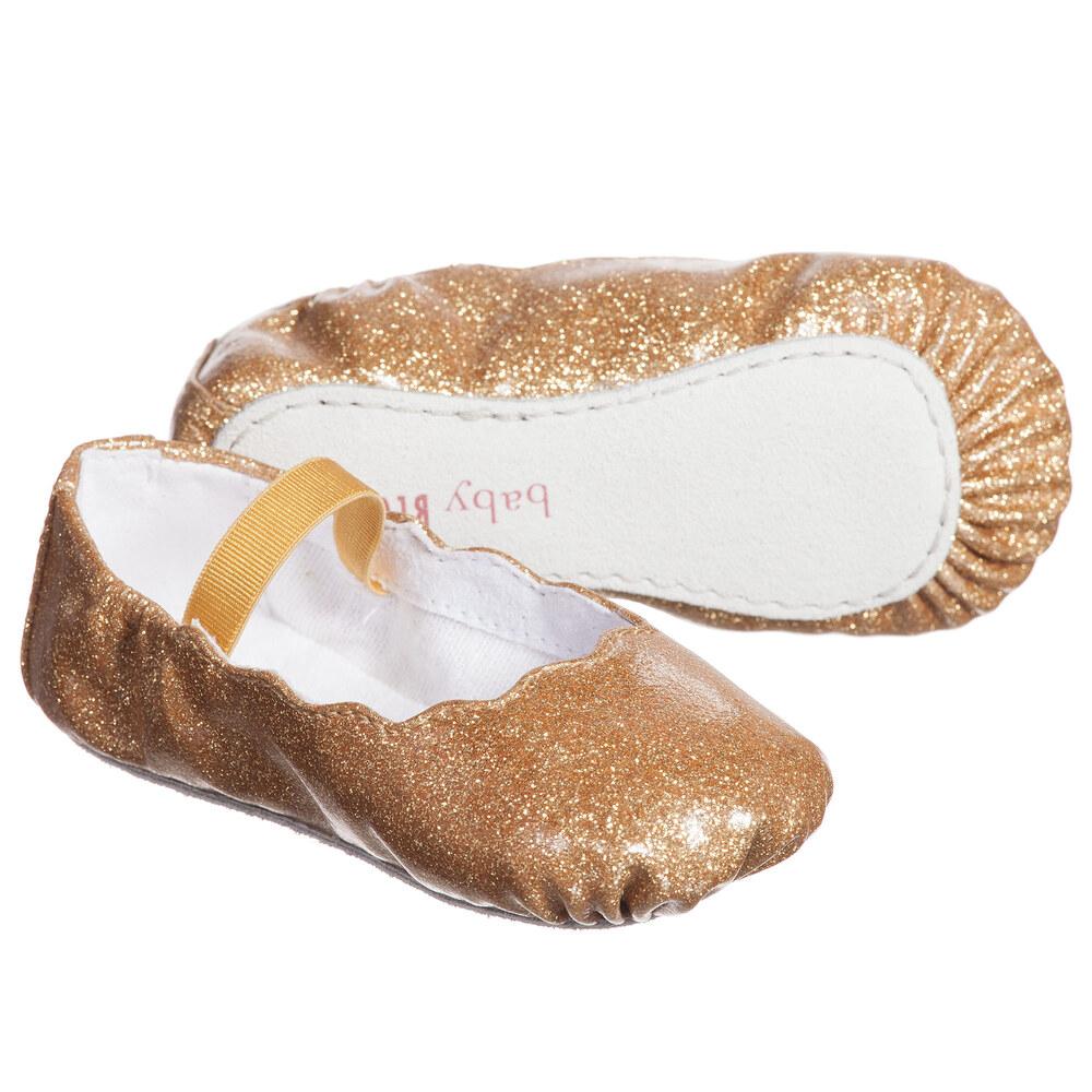 Bloch Baby Girls Gold Glitter Bijou Ballerina Shoes