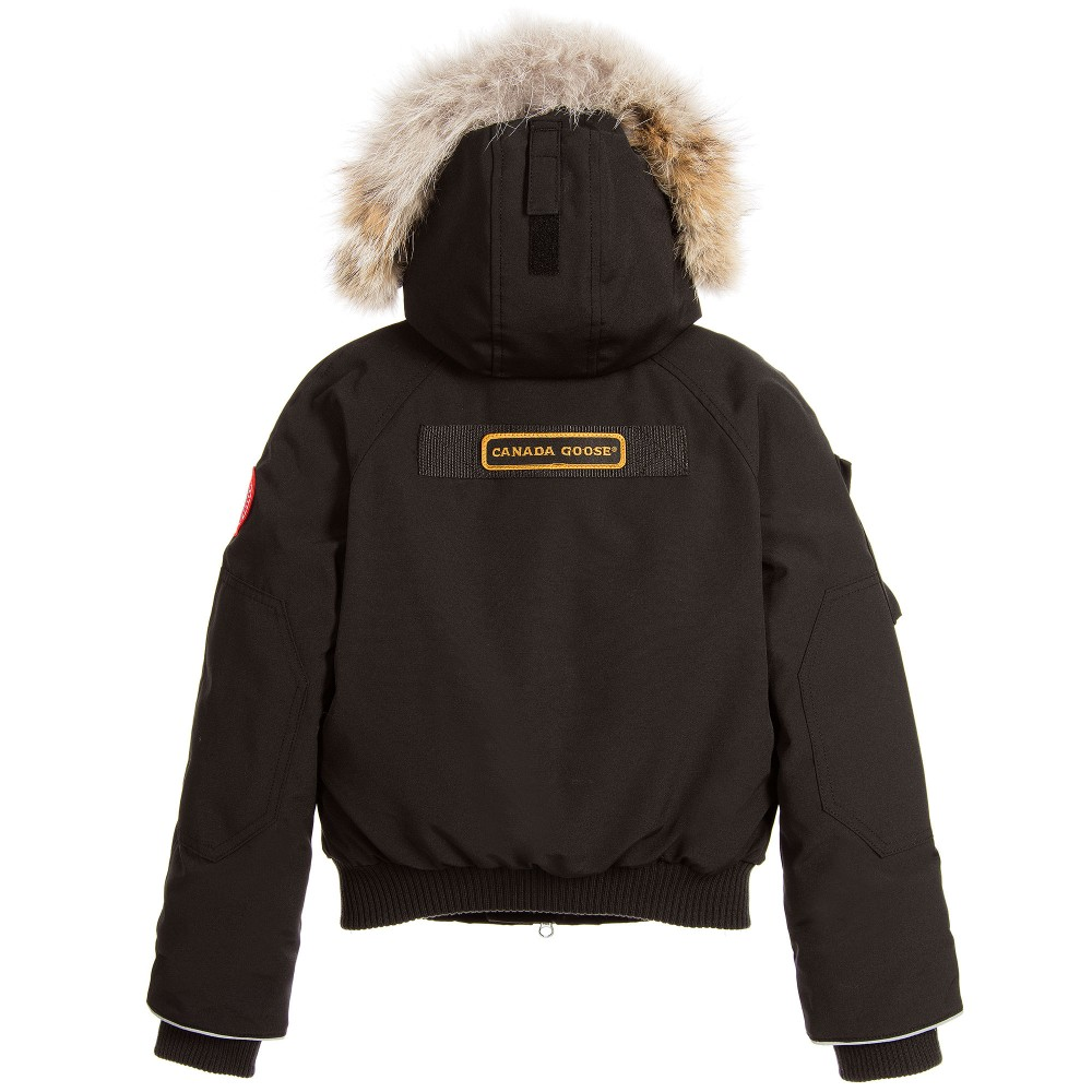 Canada Goose' Black 'Rundle Bomber' Down Padded Jacket 6 year