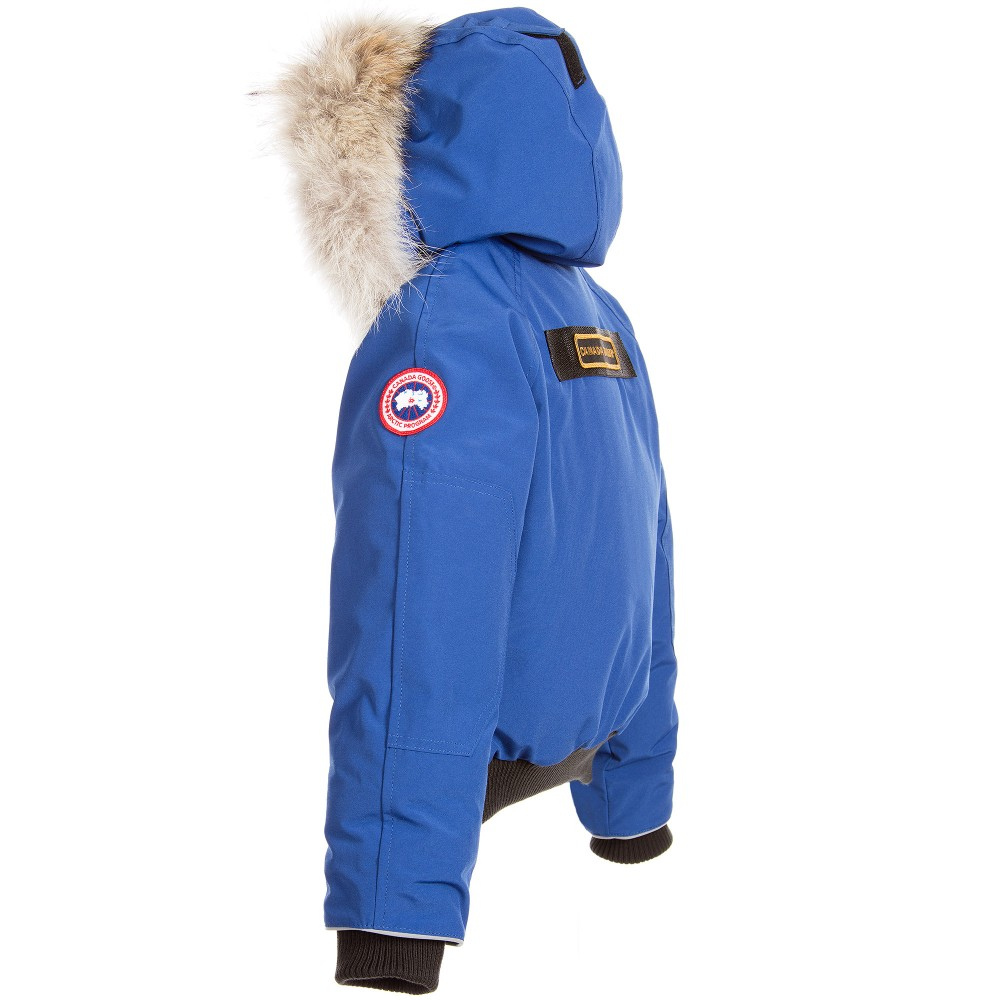Canada Goose langford parka online official - Canada Goose - Blue 'Rundle Bomber' Down Padded Jacket | Childrensalon