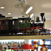 Steam train, Childrensalon store