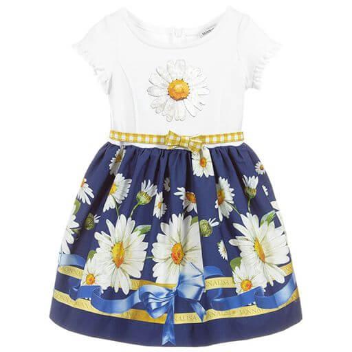 eca8bd8f365 Girls Cotton Daisies Dress