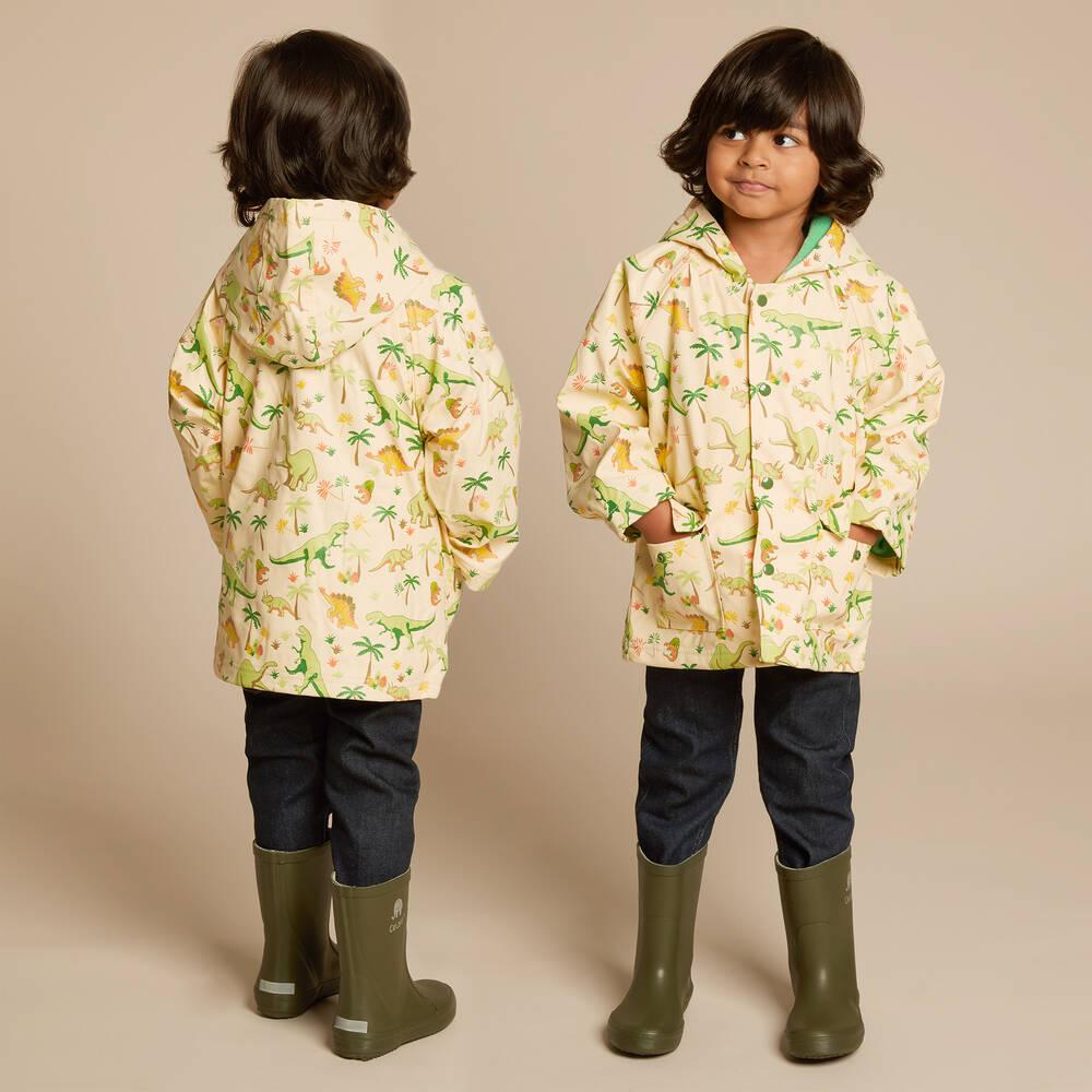 05e4c27d9483 Powell Craft - Ivory Dinosaur Raincoat