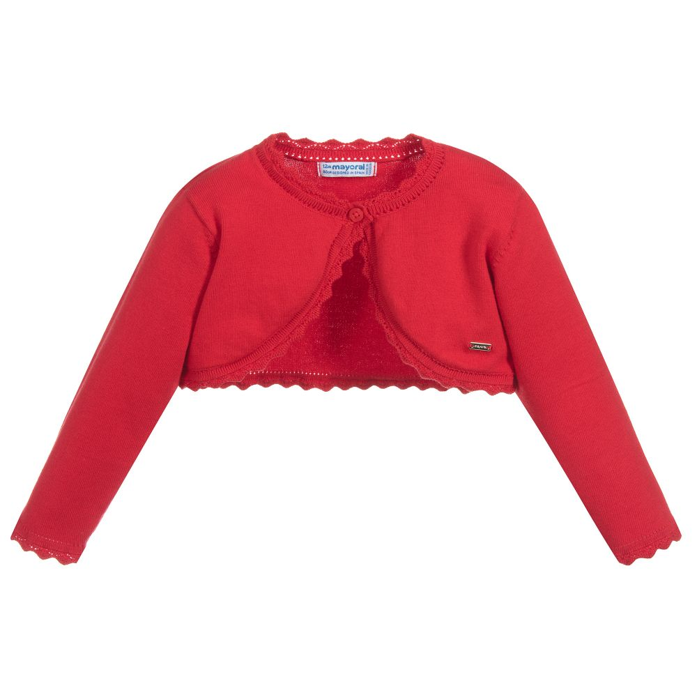 740253efc Mayoral - Girls Red Knitted Bolero