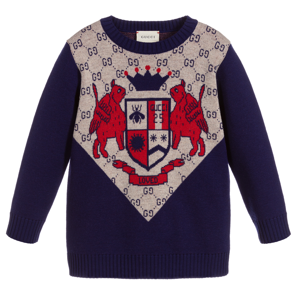 0c51d00c Boys Blue Wool Sweater