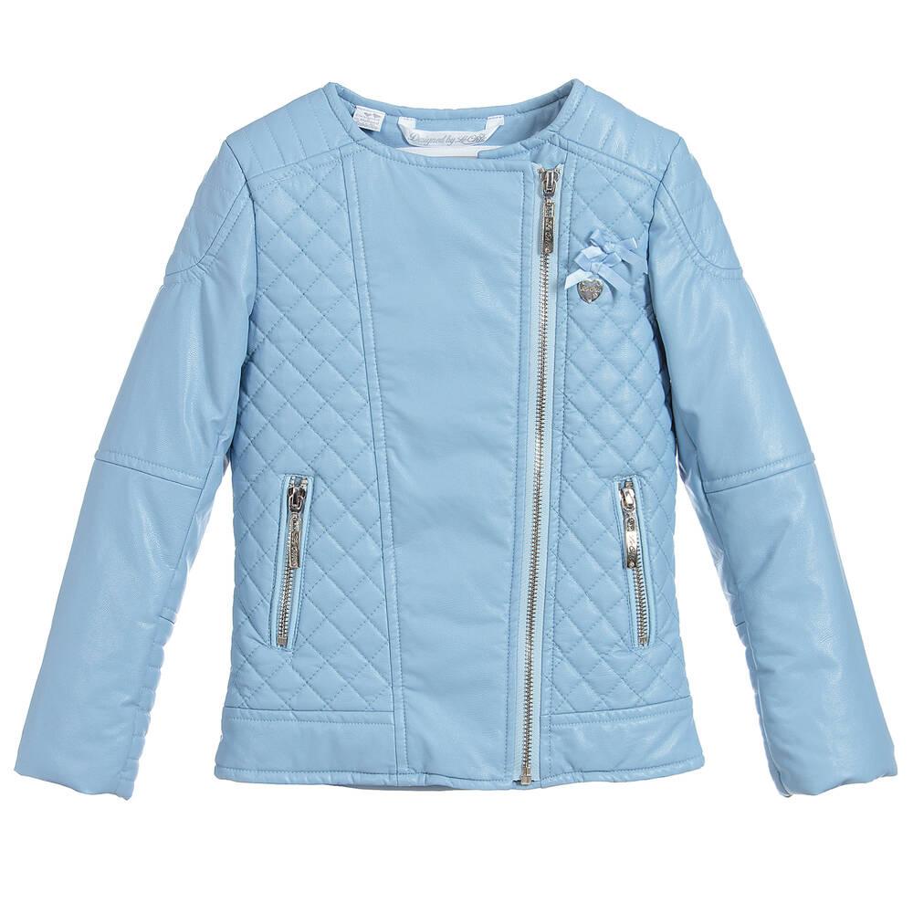 Chic - Girls Blue Biker Jacket | Childrensalon