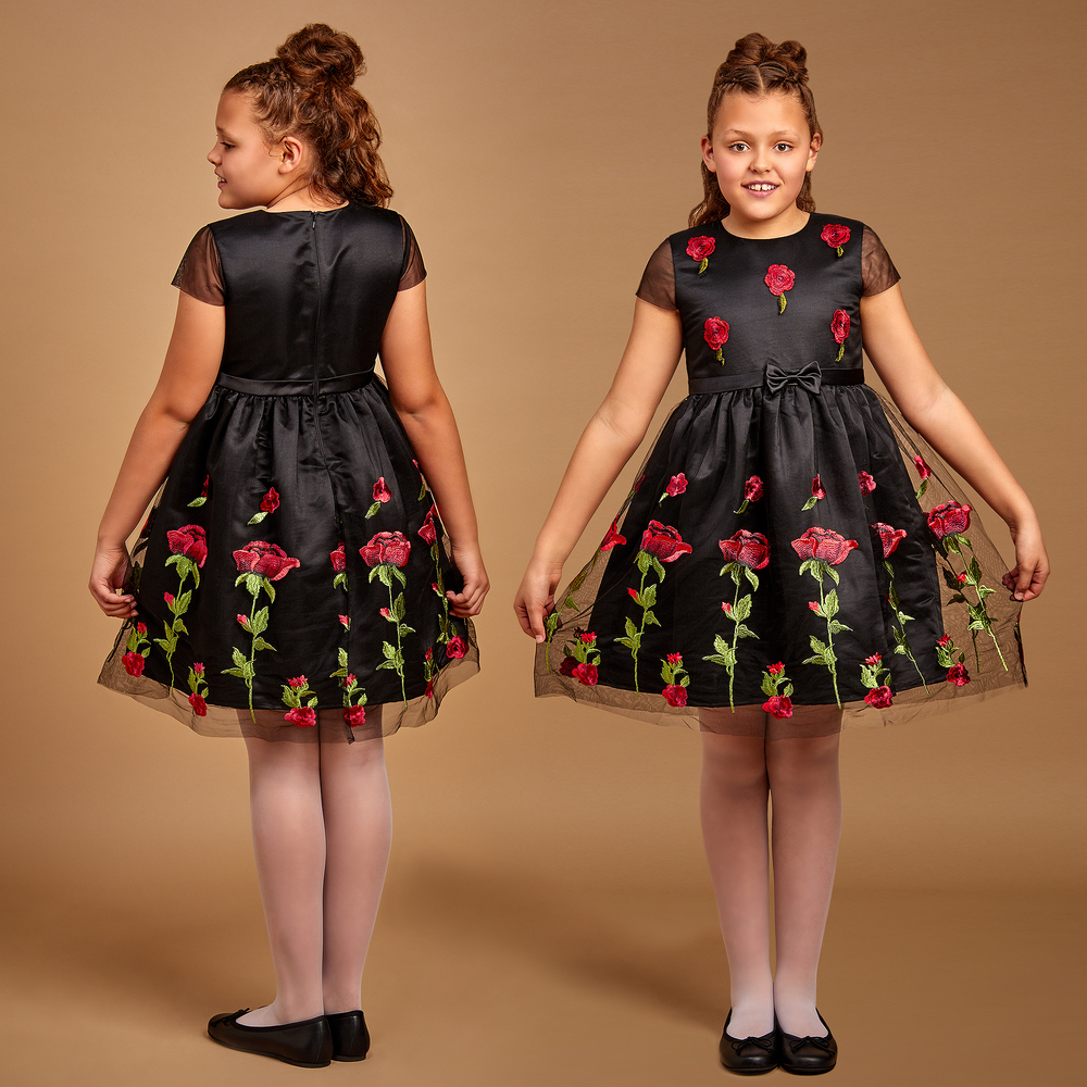 6f488d6f65 Romano Princess - Black Tulle   Red Rose Dress