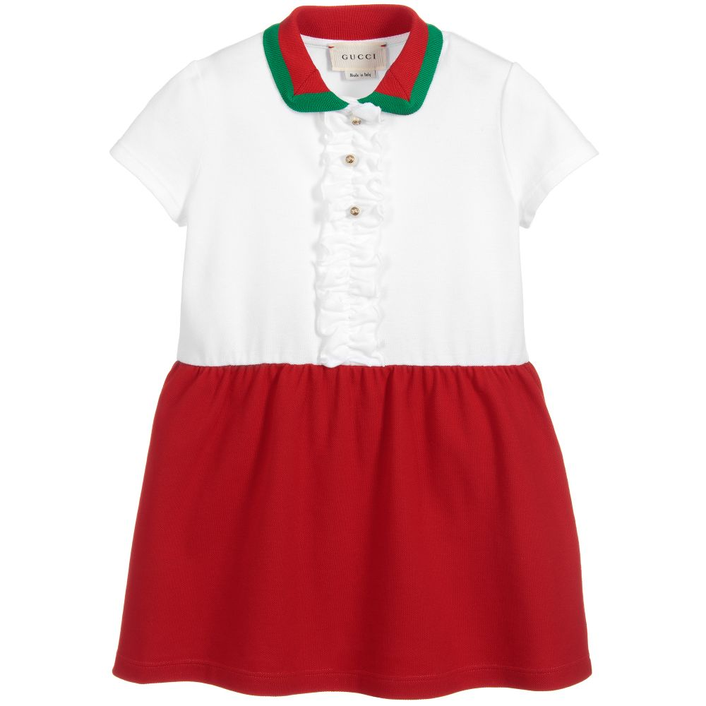 671b3541d Gucci - Girls Red Cotton Piqué Dress