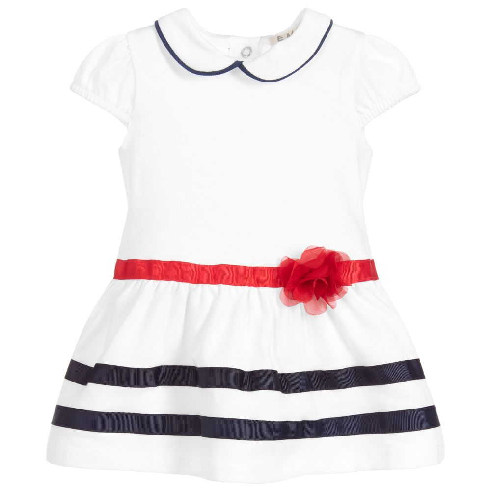 831bf118d Everything Must Change - Baby Girls White Cotton Dress | Childrensalon