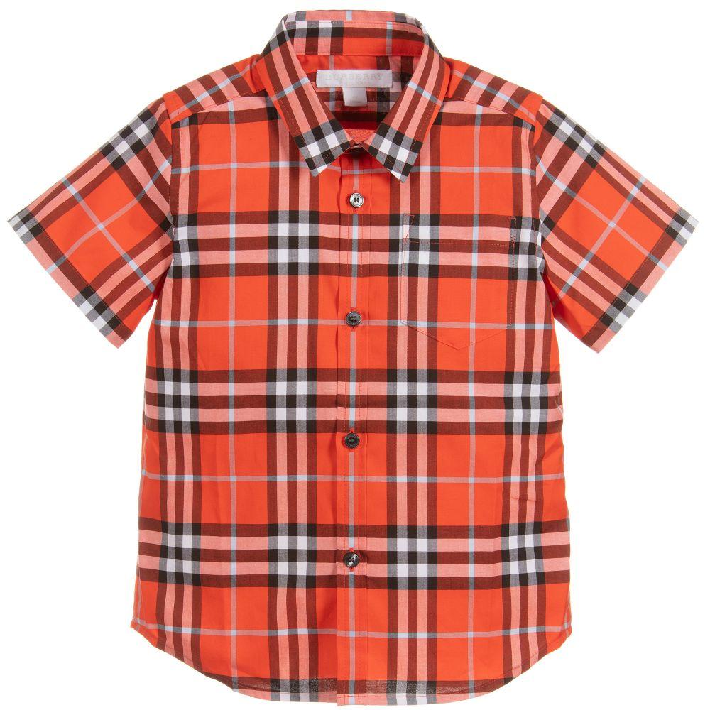 f33facfe1578af Burberry - Boys Red Vintage Check Shirt | Childrensalon