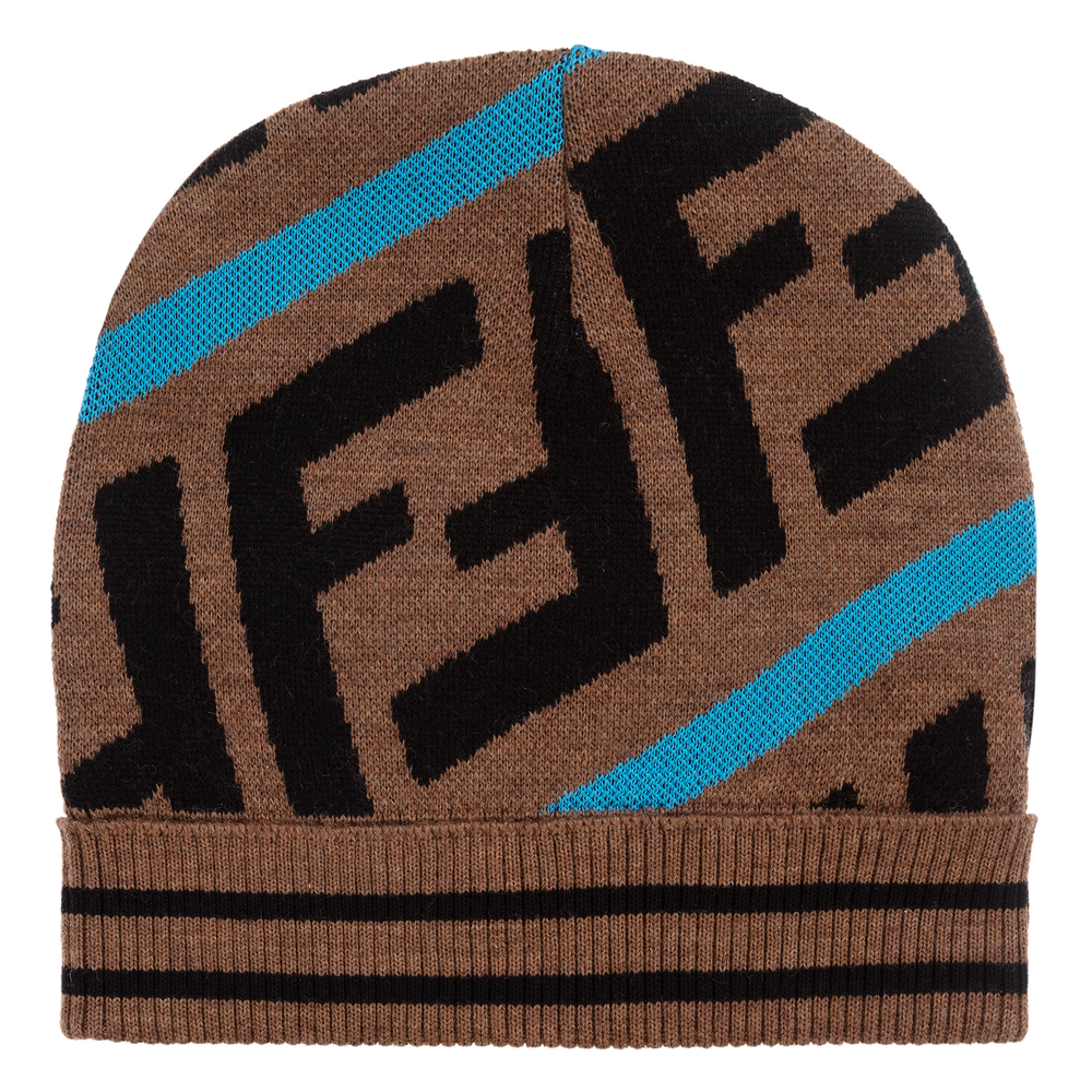 0fa567291 Brown Knitted FF Logo Hat