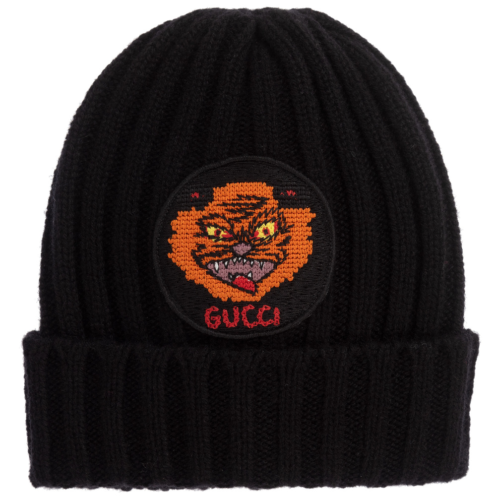 c0eee81b Boys Black Cashmere Knit Hat