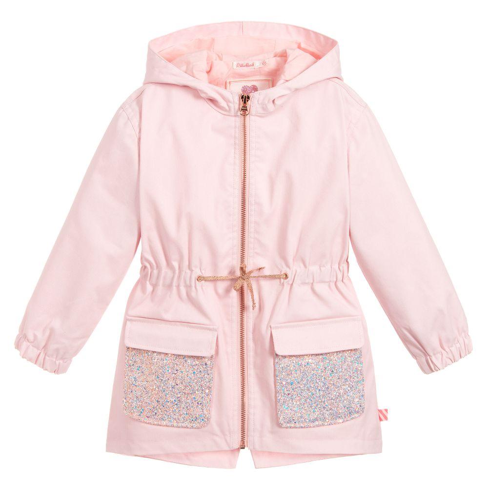 6fa0c2bd33f9 Billieblush - Girls Pink Hooded Coat