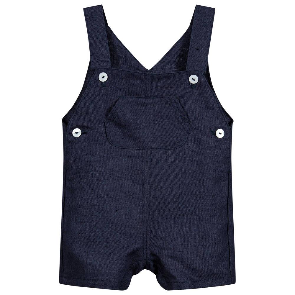 8beabfe79 Absorba - Boys Linen Dungaree Shorts