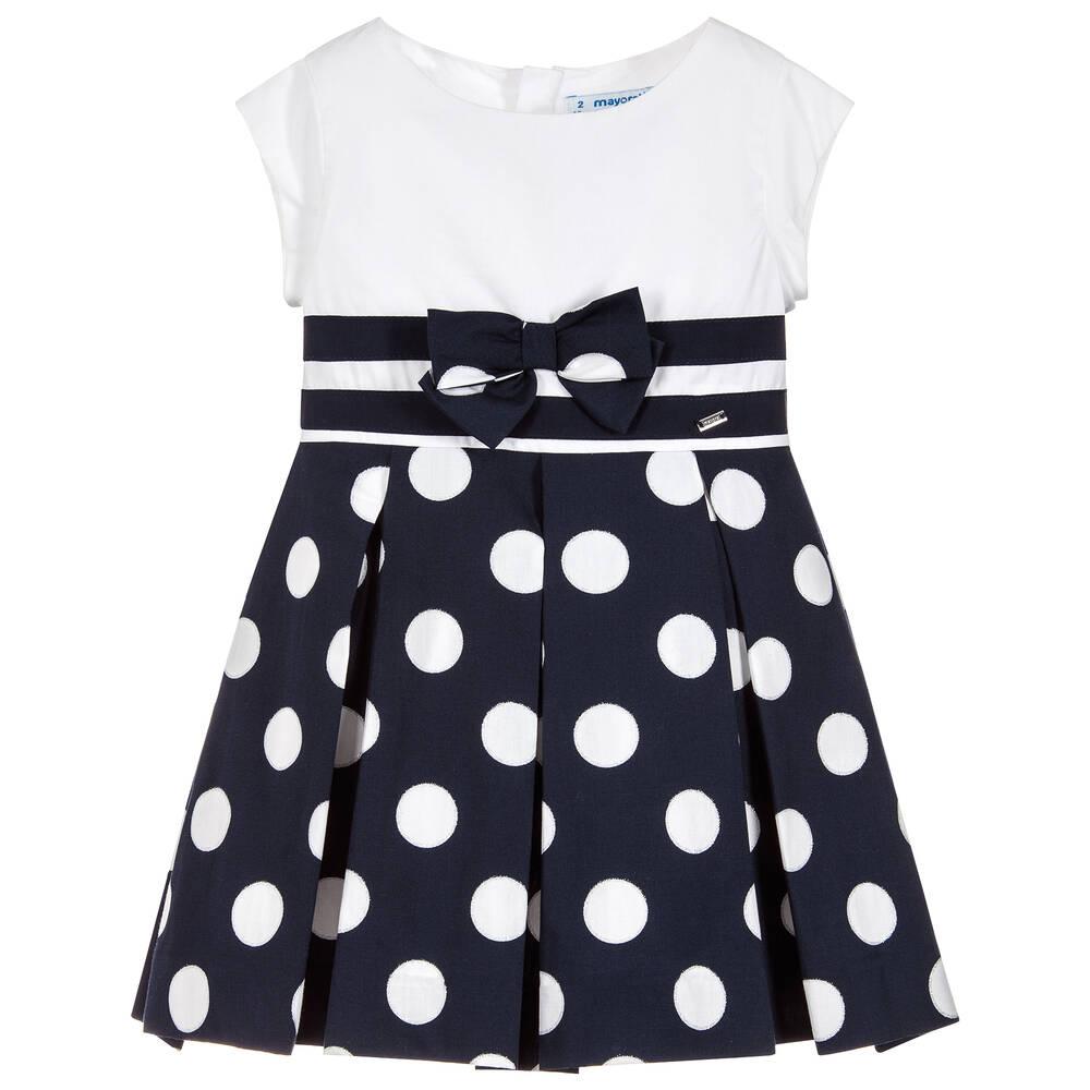 1e193c1785bb Mayoral - Girls Navy Blue Cotton Dress