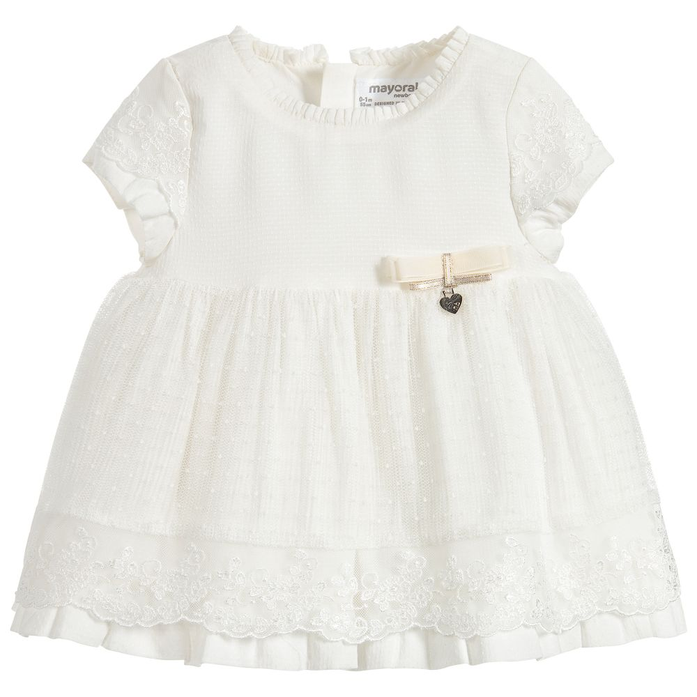 5c95d5ab273 Mayoral Newborn - 2 Piece Ivory Baby Dress Set