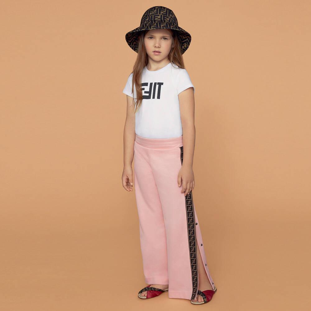 d0deed08f2f Fendi - Pink  FF  Logo Popper Trousers