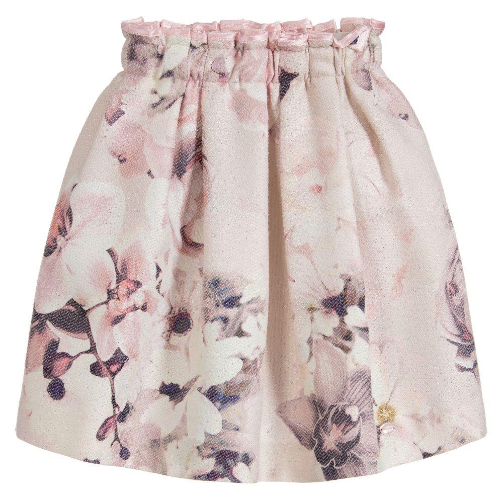 Valmax girls pink floral skirt childrensalon mightylinksfo