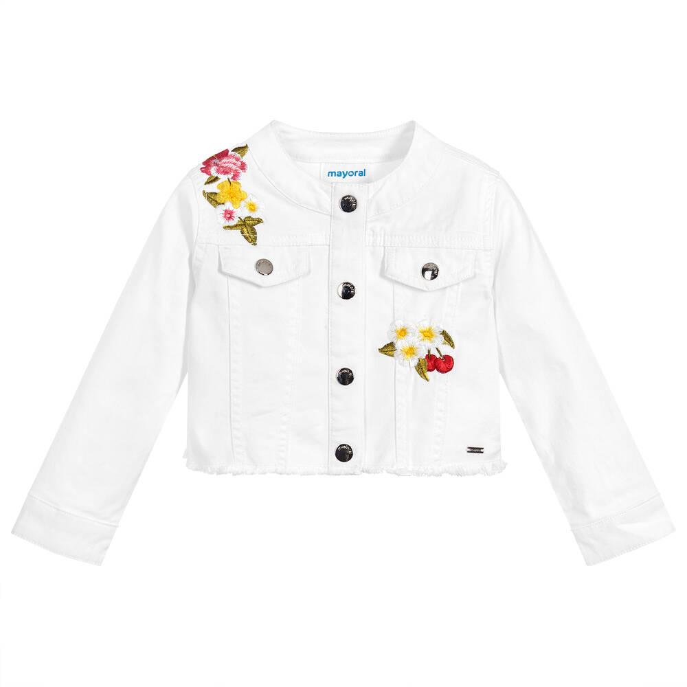 08ac8eb00b3 Mayoral - Girls White Denim Jacket
