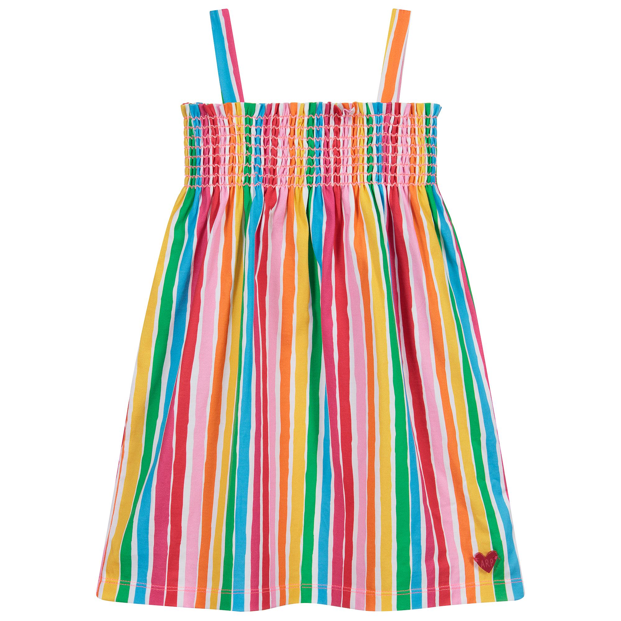 Agatha Ruiz De La Prada Multi Striped Cotton Dress Childrensalon