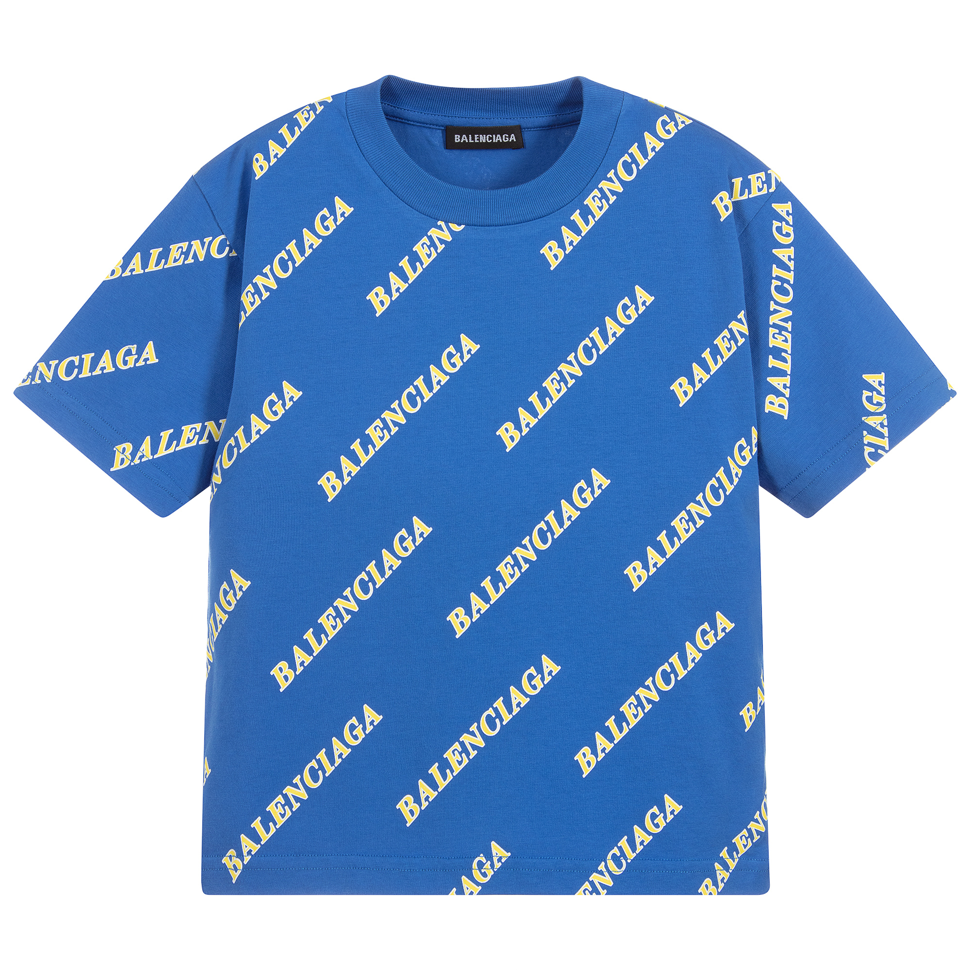 Balenciaga - Blue Logo Printed T-Shirt
