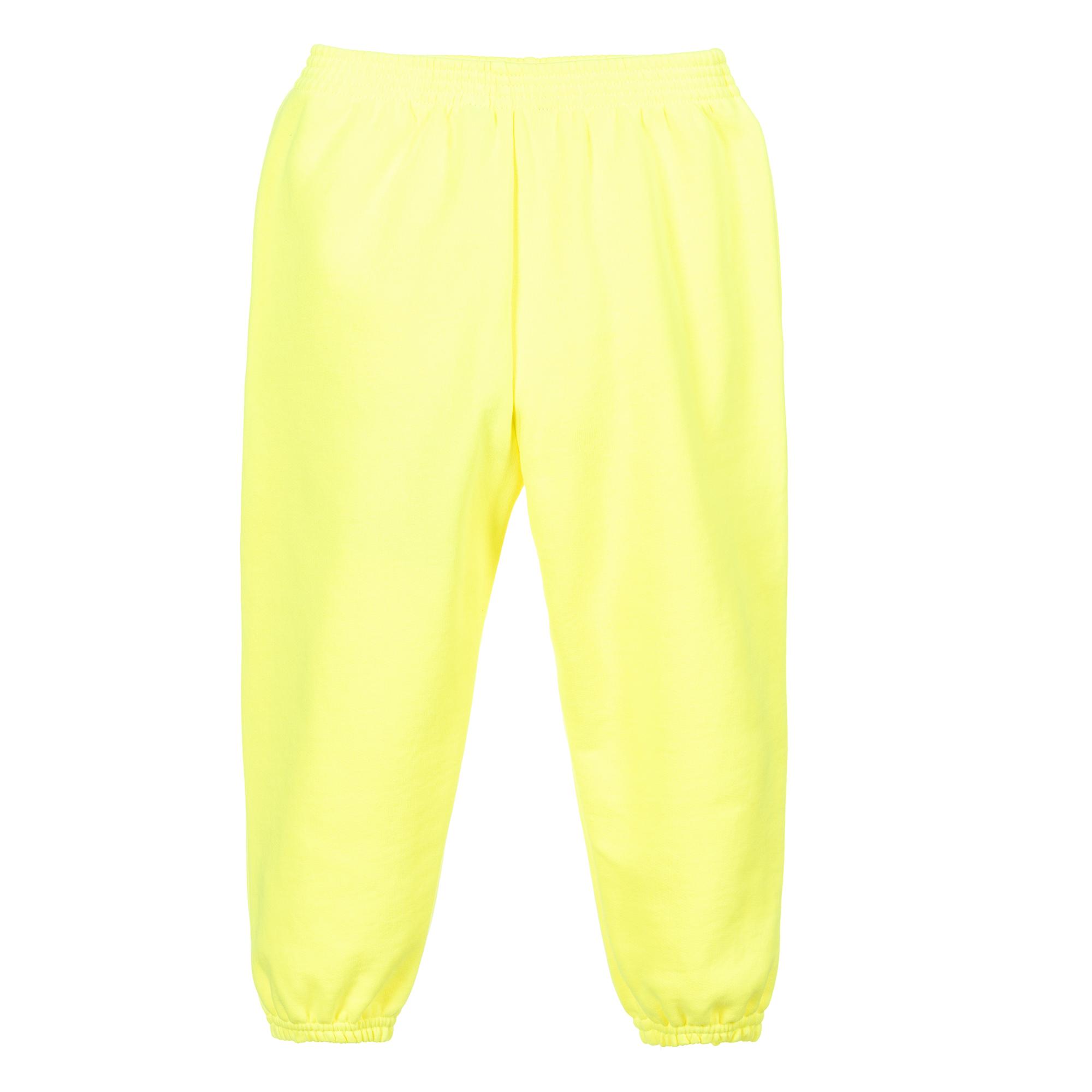 Balenciaga - Neon Yellow Logo Joggers