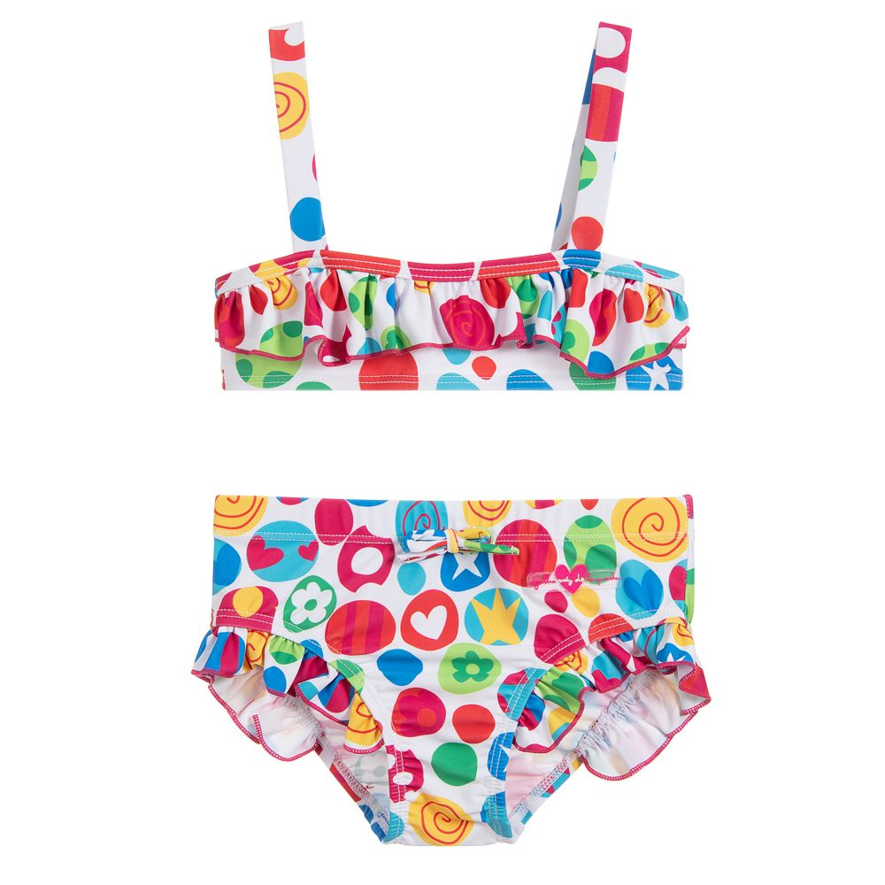 8414cbb56 Agatha Ruiz de la Prada - Girls Colourful Print Bikini | Childrensalon
