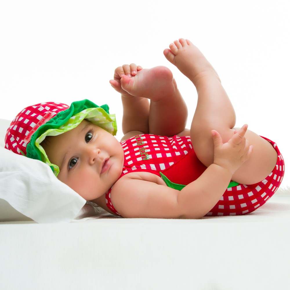 agatha ruiz de la prada girls red check swimsuit. Black Bedroom Furniture Sets. Home Design Ideas