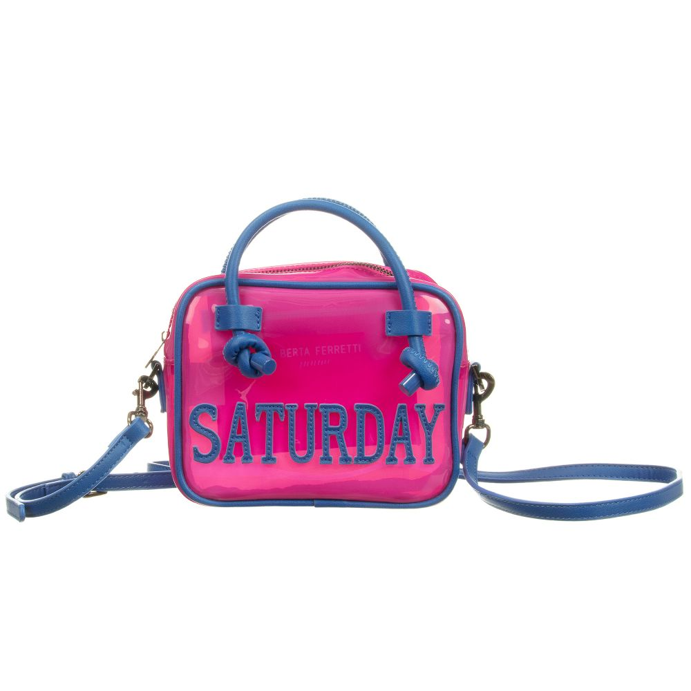 bd28402159d Alberta Ferretti - Pink Saturday Bag (20cm) | Childrensalon