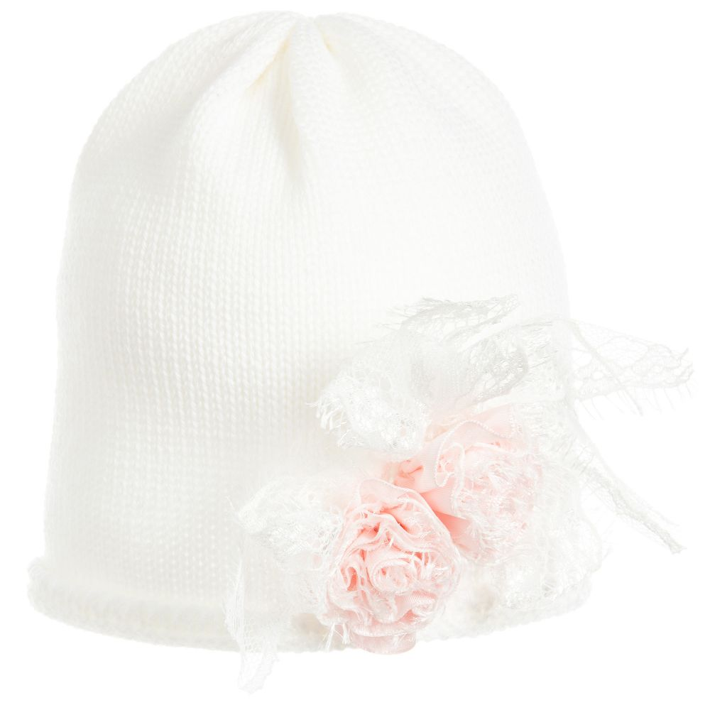 Aletta - Baby Girls Ivory Hat  | Childrensalon