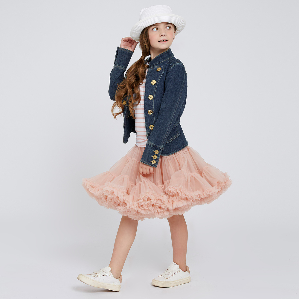 235ae5a6645 Girls Blue Denim Jacket
