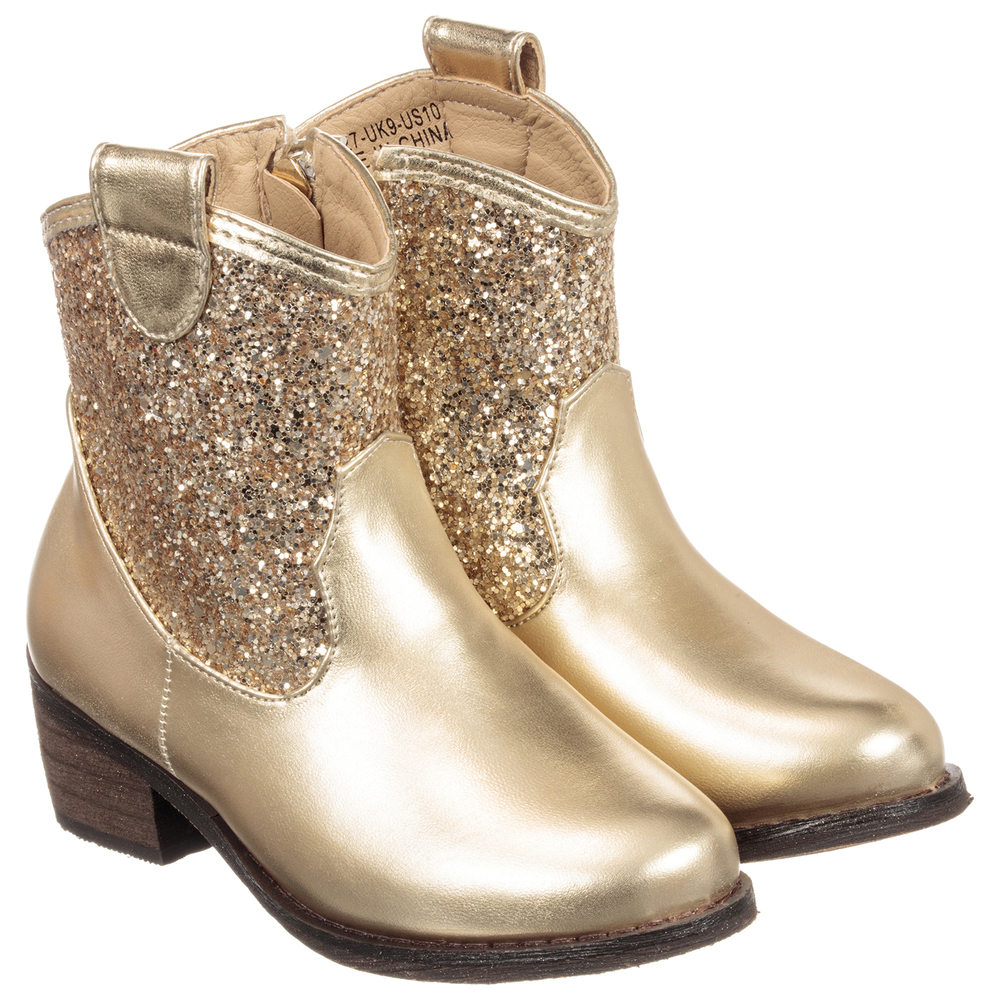 girls gold boots