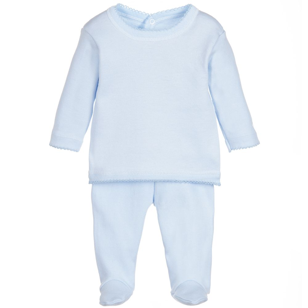 Babidu - Blue 2-Piece Babysuit | Childrensalon