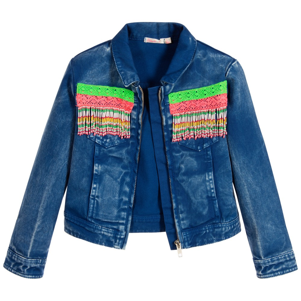 Billieblush - Girls Blue Denim Jacket | Childrensalon