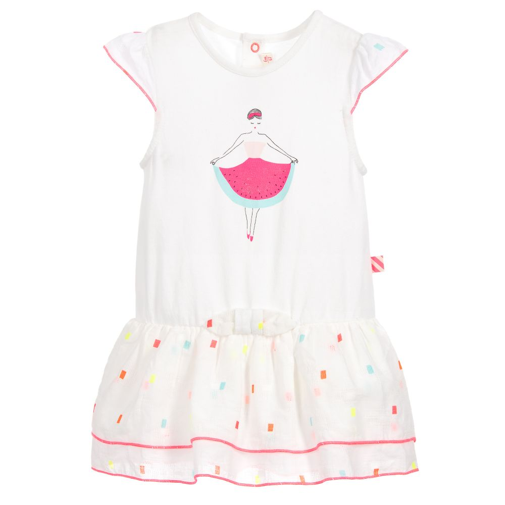 b5fe60a18d9f Billieblush - Girls White Cotton Dress