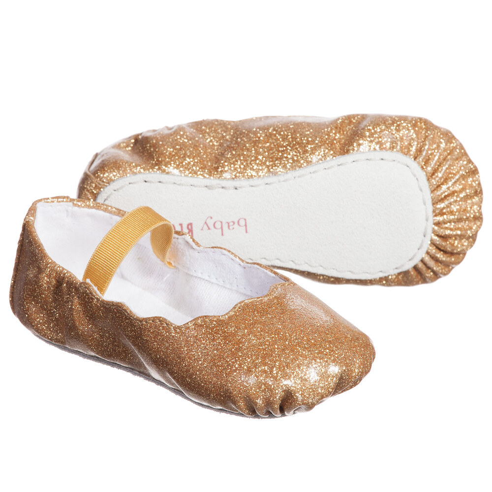 Bloch - Baby Girls Gold Glitter 'Bijou' Ballerina Shoes | Childrensalon