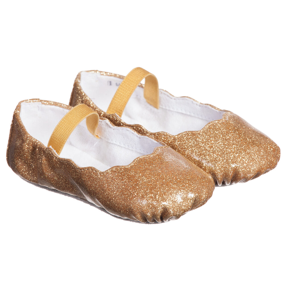 Bloch Baby Girls Gold Glitter Bijou Ballerina Shoes