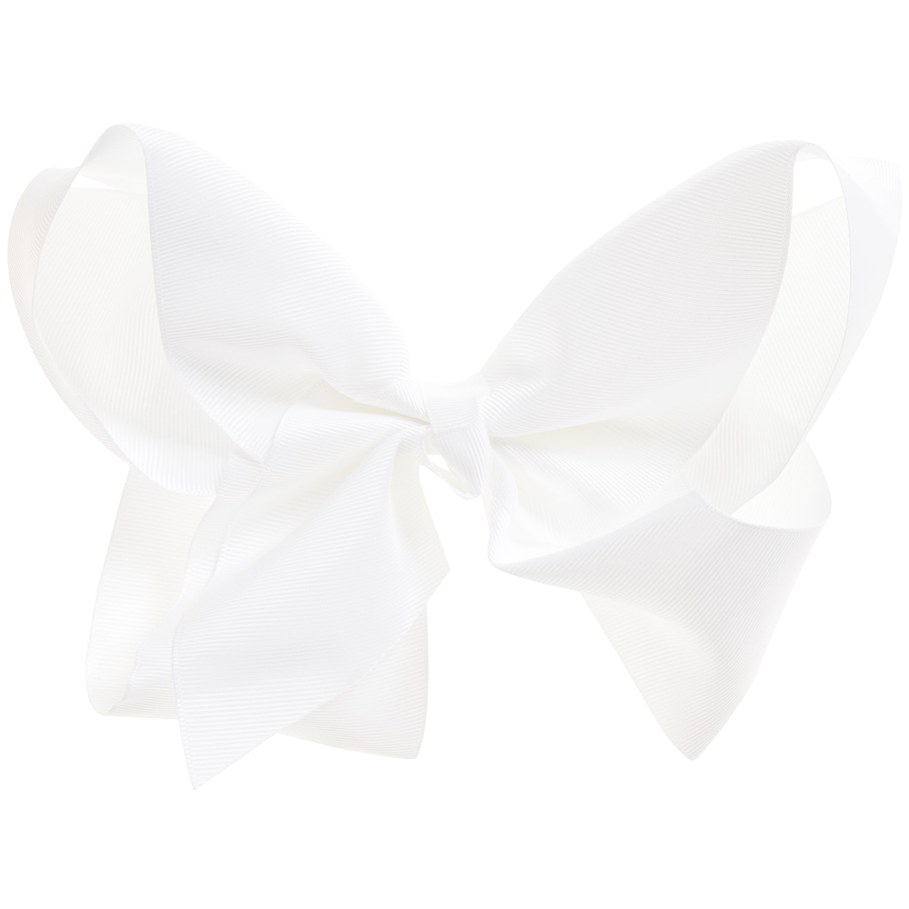 Bowtique London - White Bow Hair Clip (20cm) | Childrensalon