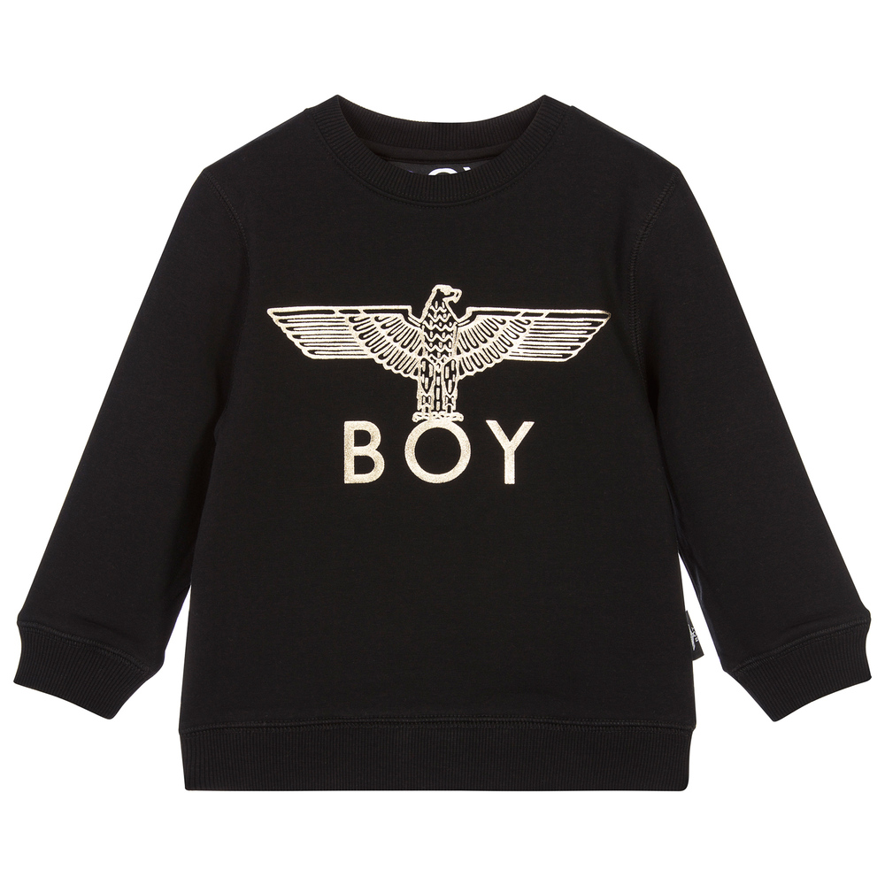 BOY London - Black & Gold Eagle Sweatshirt | Childrensalon