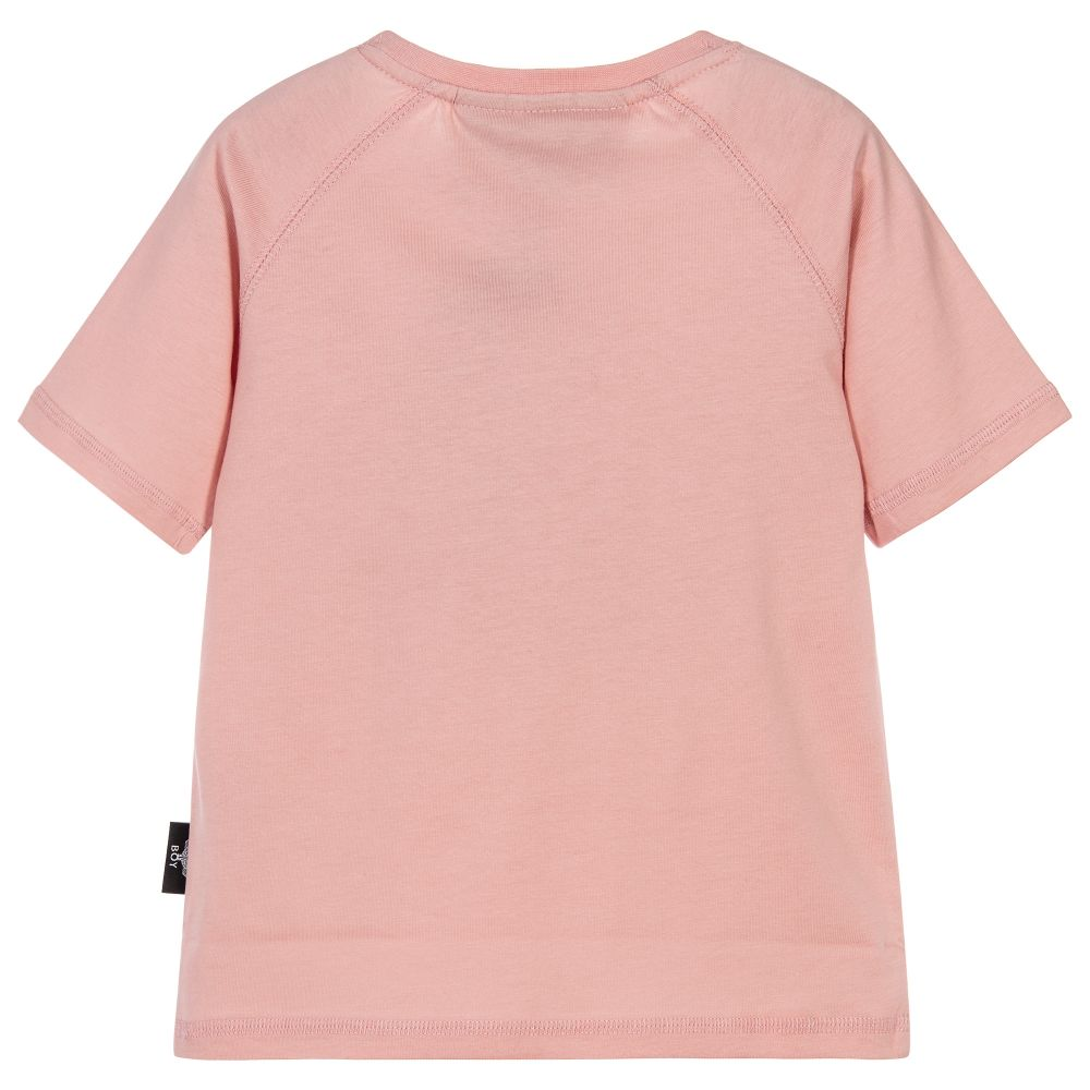 London - Pink Cotton Logo T-Shirt | Childrensalon