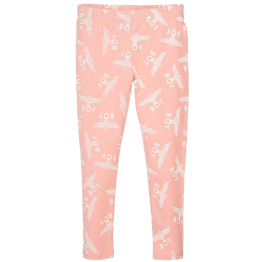 Pink Logo Printed Leggings