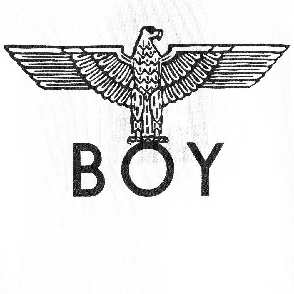 Boy London White Cotton Logo T Shirt Childrensalon