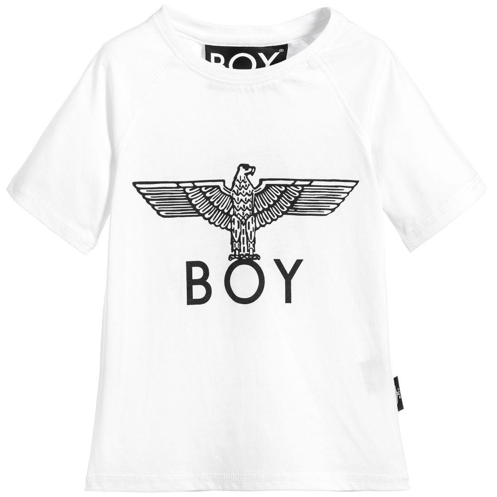BOY London - White Cotton Logo T-Shirt | Childrensalon