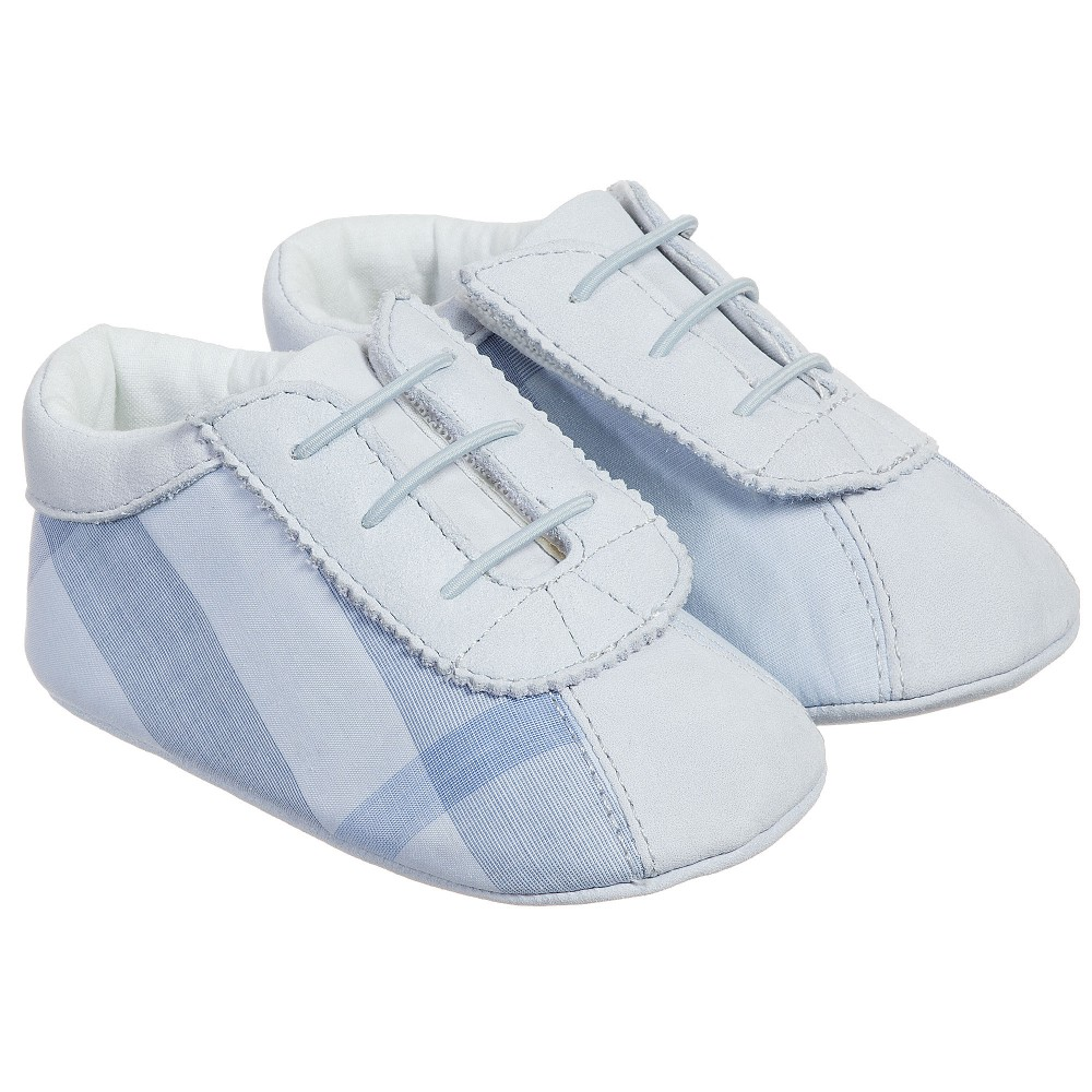 Burberry Baby Boys Blue Check Bosco Shoes Childrensalon