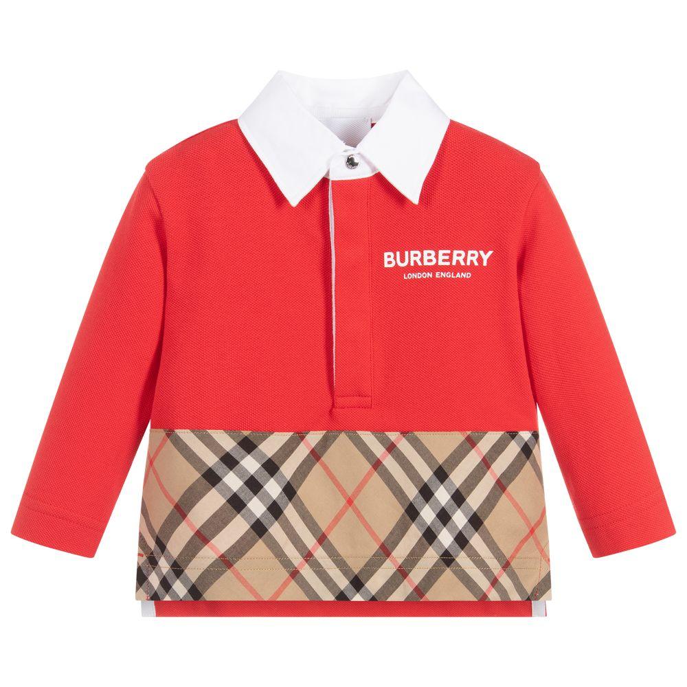 ecf67cd8c Burberry - Boys Cotton Piqué Polo Shirt