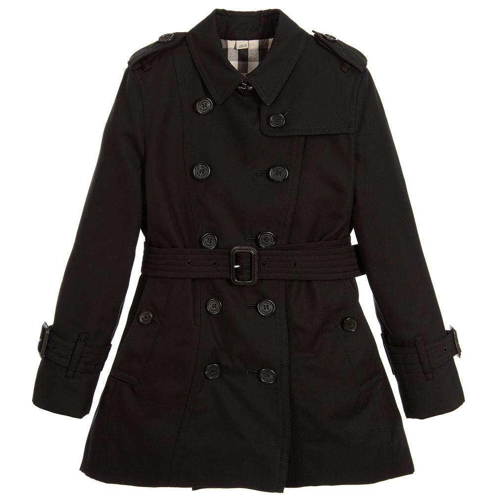 Burberry - Girls Black &39Sandringham&39 Trench Coat | Childrensalon