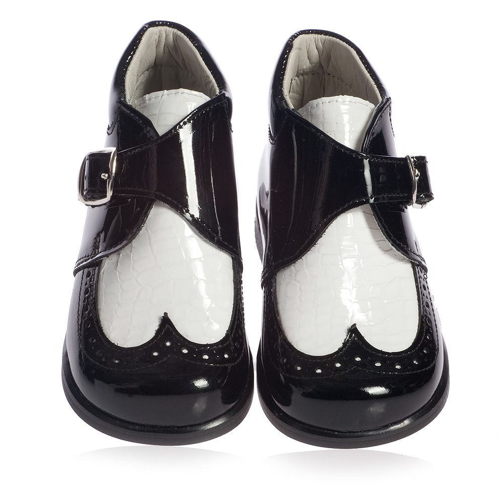 Black And White Bathroom: Boys Black And White Patent Leather