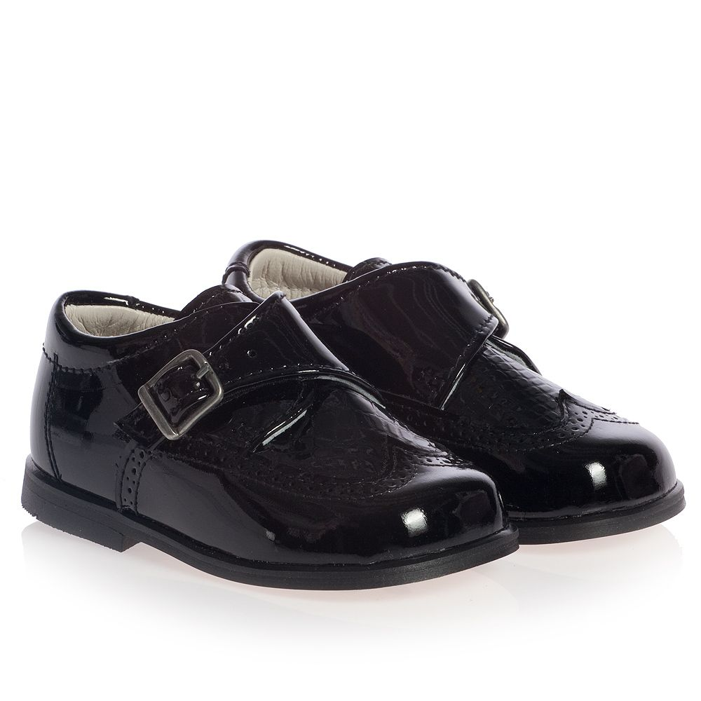 c78cf88966734 Children's Classics - Boys Black Patent Leather Shoes | Childrensalon