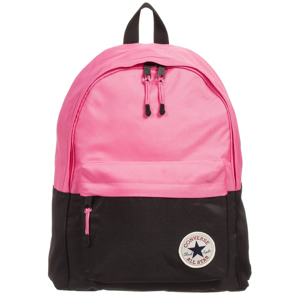 black and pink converse backpack