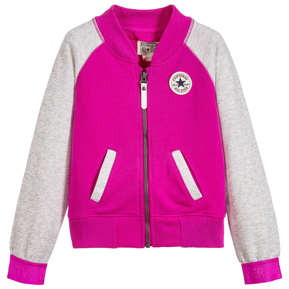 Converse - Girls Pink College Jacket | Childrensalon