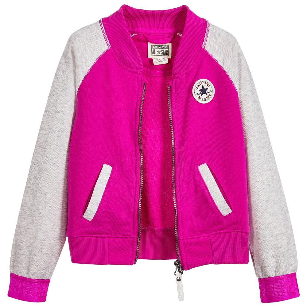 Converse - Girls Pink College Jacket | Childrensalon
